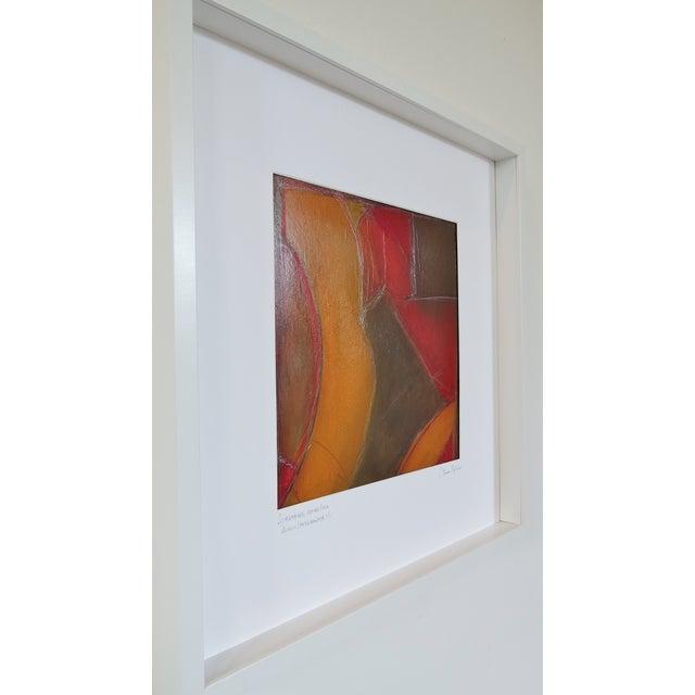 Atmospheres, Orange/Red Framed Painting - Image 3 of 9