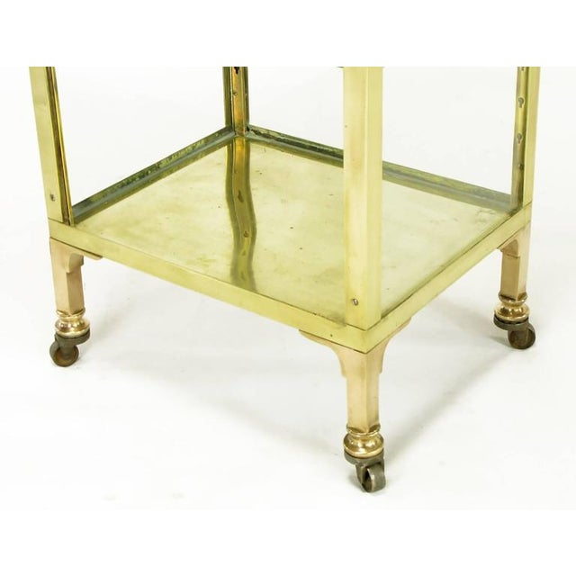 Brass 1930s Brass and Glass Open Three-Shelf Vitrine For Sale - Image 7 of 7
