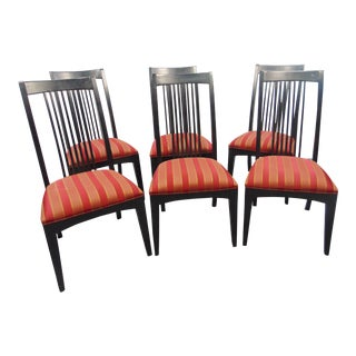 Ethan Allen New Impressions Misson Ebonized Side Chairs - Set of 6 For Sale