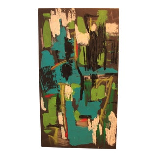 """2017 """"BU 4"""" Abstract Acrylic Painting For Sale"""