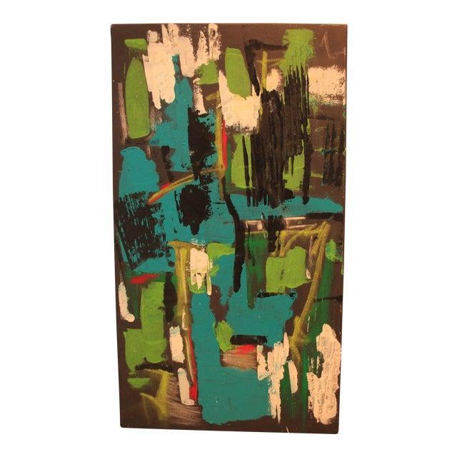 "2017 ""BU 4"" Abstract Acrylic Painting - Image 1 of 10"
