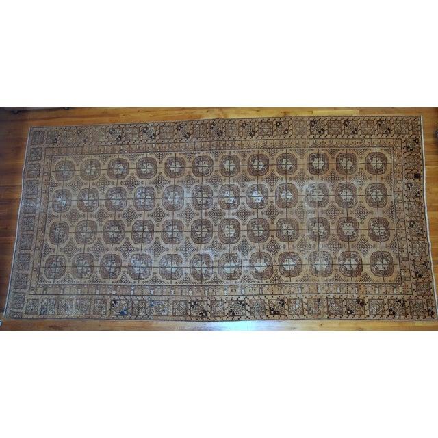 Rustic 1900s Handmade Antique Uzbek Khotan Rug 6.2' X 12.10' For Sale - Image 3 of 10