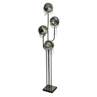 1960s Italian Goffredo Reggiani Chrome Four Light Floor Lamp
