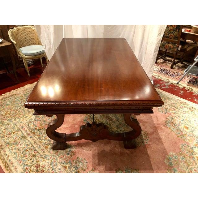 Renaissance Spanish Renaissance Walnut Refectory Table For Sale - Image 3 of 10
