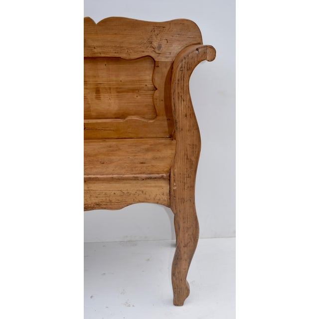 Pine and Oak Bench or Settle For Sale - Image 9 of 13