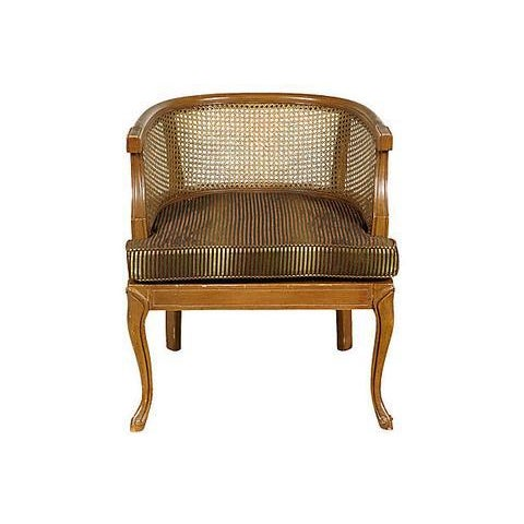 1960s Caned Barrel Chair - Image 2 of 5
