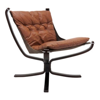 Sigurd Resell Leather Chair 'Falcon' For Sale