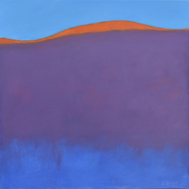 """Stephen Remick """"Sunset on the Mountain"""" Contemporary Abstract Painting For Sale - Image 10 of 10"""