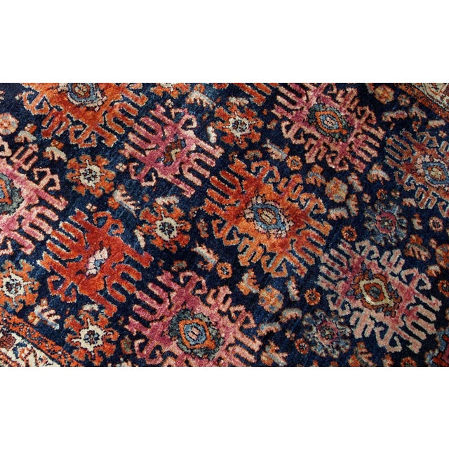1910s, Handmade Antique Persian Malayer Rug 4.1' X 6.3' For Sale - Image 4 of 11