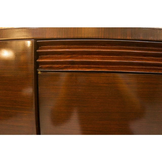 French Art Deco Mahogany Buffet Cabinet For Sale In West Palm - Image 6 of 11