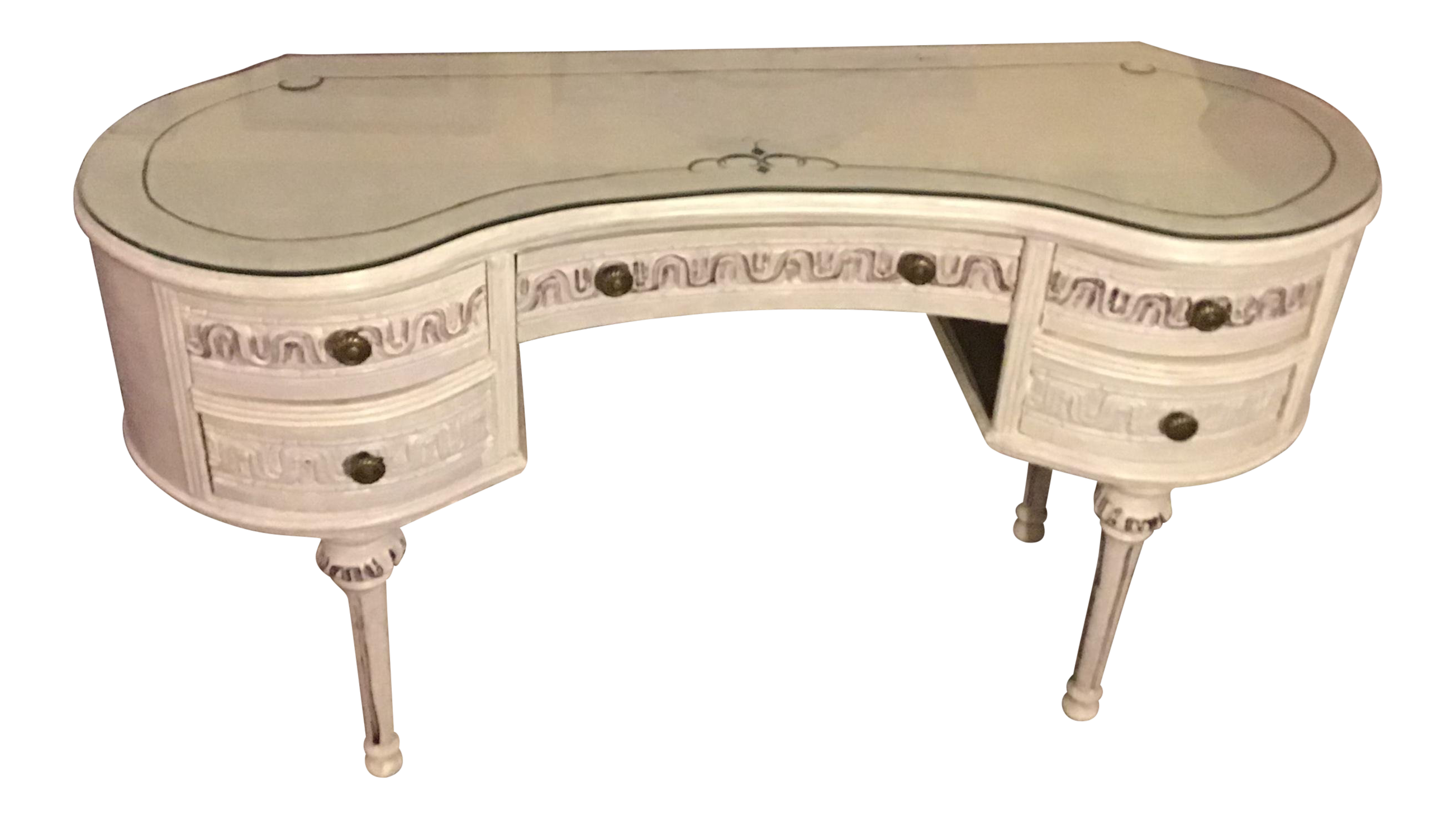 19th/20th Century Kidney Shape French Louis XVI/Swedish Gustavian Style  5 Drawer