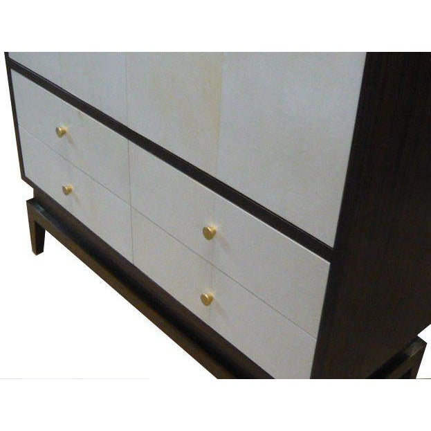 2010s Italian Clarke Parchment Armoire For Sale - Image 5 of 5