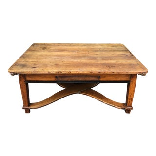 Antique 18th C French Country Farm House Coffee Table For Sale