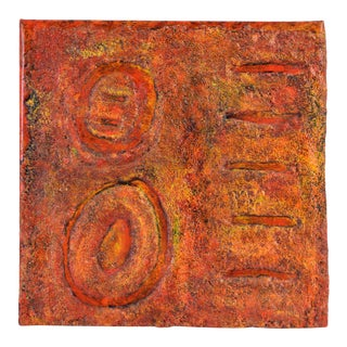 """""""Origens"""" Heavy Impasto Textural Abstract Painting Didi Marchi Miami Artist For Sale"""