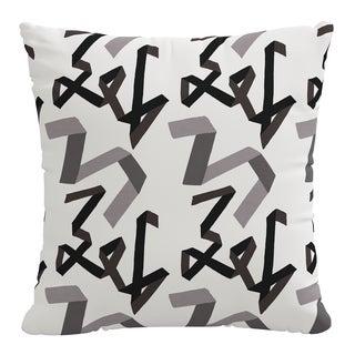 Pillow in Black Ribbon by Angela Chrusciaki Blehm for Chairish