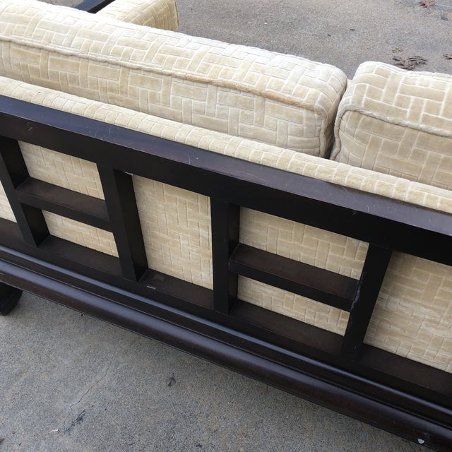 Lamont Ming Chinoiserie Solid Wood Loveseat Sofa** For Sale In Atlanta - Image 6 of 7