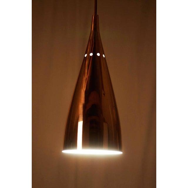 J.T. Kalmar Mid-Century Copper Hanging Lamp by JT Kalmar For Sale - Image 4 of 6