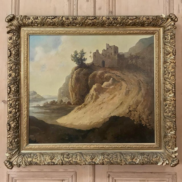 Antique Framed Oil Painting on Canvas by Roelofs For Sale - Image 13 of 13