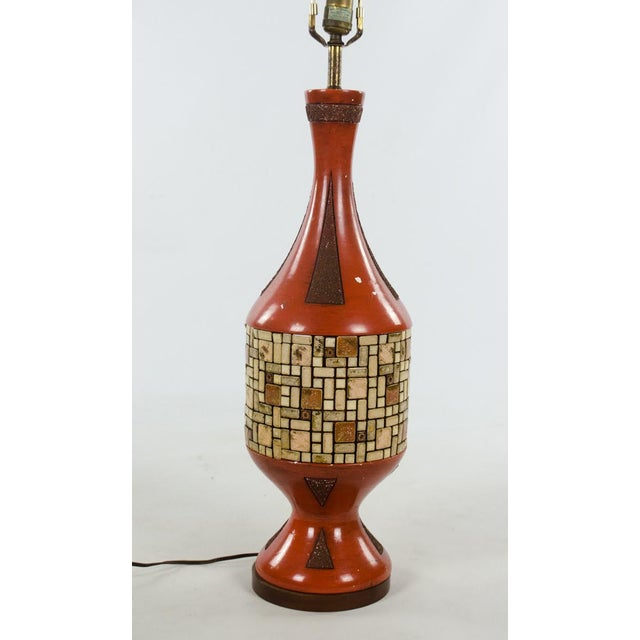 Mid-Century Ceramic and Tile Westwood Table Lamps - a Pair For Sale In Atlanta - Image 6 of 13