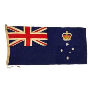 Mid 20th Century Nautical Flag of Victoria, Australia For Sale