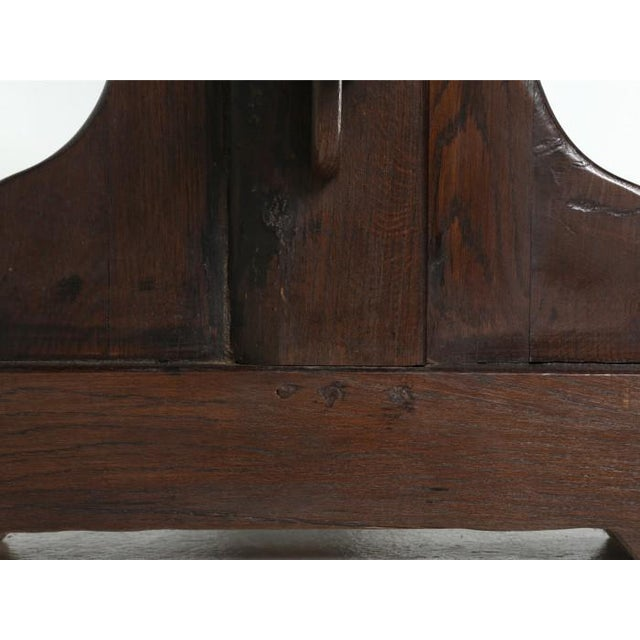 French Antique French Oak Trestle Dining Table For Sale - Image 3 of 11