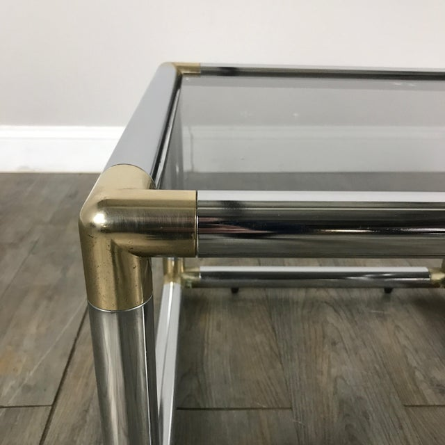 Mid-Century Modern Chrome Boxed End Tables Set - Image 7 of 11