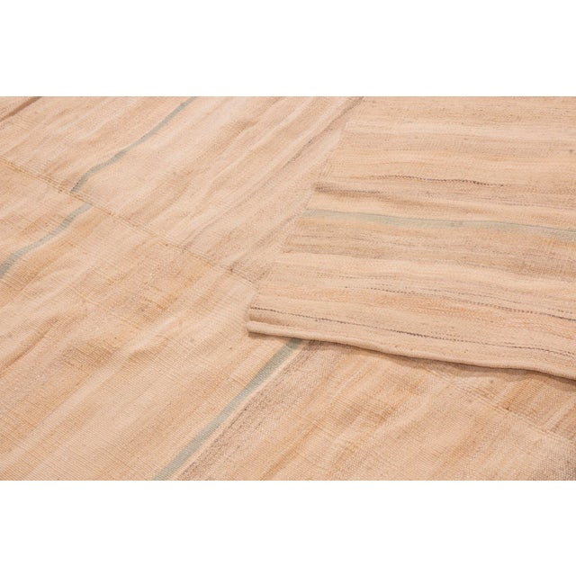 2010s Contemporary Beige Wool Kilim Rug - 7′2″ × 10′ For Sale - Image 5 of 6