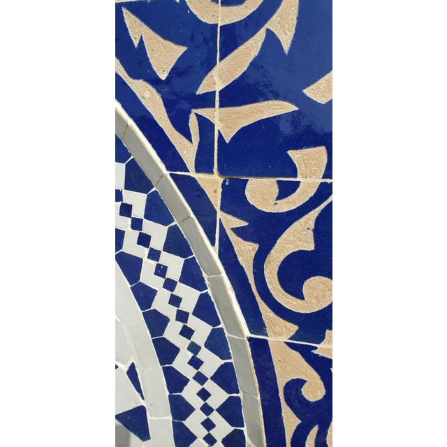 Moroccan Mosaic Blue Fountain For Sale In Orlando - Image 6 of 8