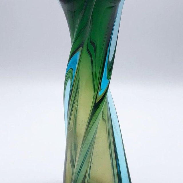Mid-Century Modern Murano Seguso Glass Vase, C. 1960 For Sale - Image 3 of 5