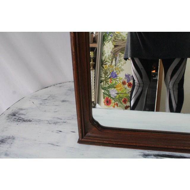 Traditional 1920's Antique Scroll Top Shell & Acorn Finial Mirror For Sale - Image 3 of 10