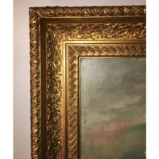 Oil Paint Antique Floral Oil Painting For Sale - Image 7 of 11