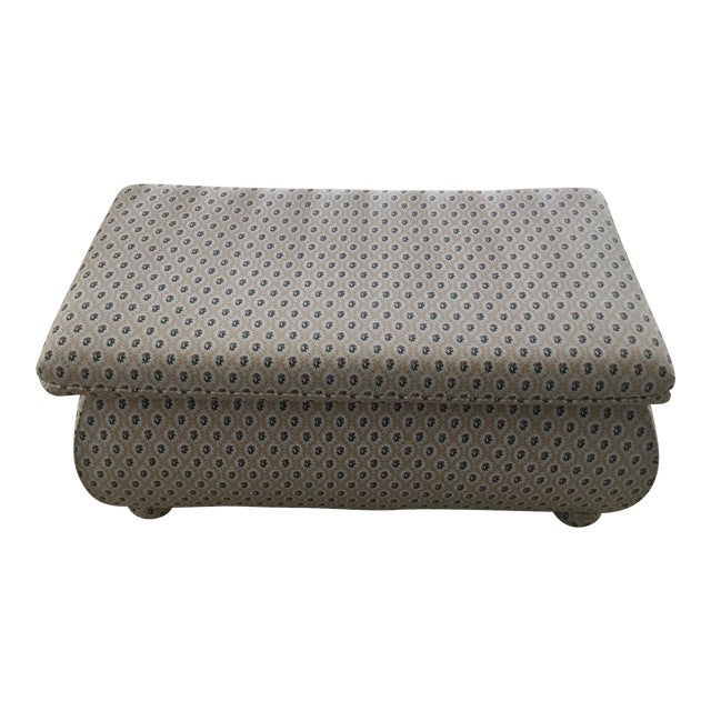 1990s Vintage Cox Large Bombay Style Storage Ottoman For Sale