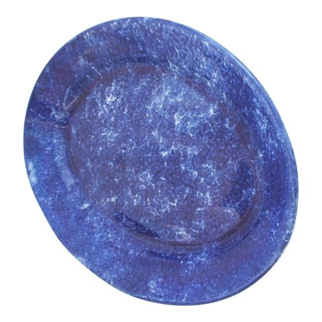 19th Century Sponge Ware Serving Platter For Sale
