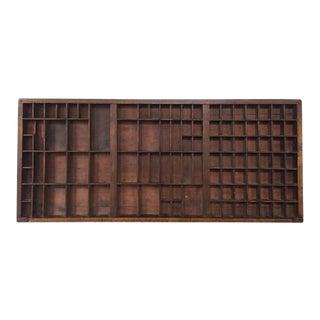 "Vintage Wooden Typesetter Printer Drawer Typeset Display Curio Drawer Shelf 32"" For Sale"