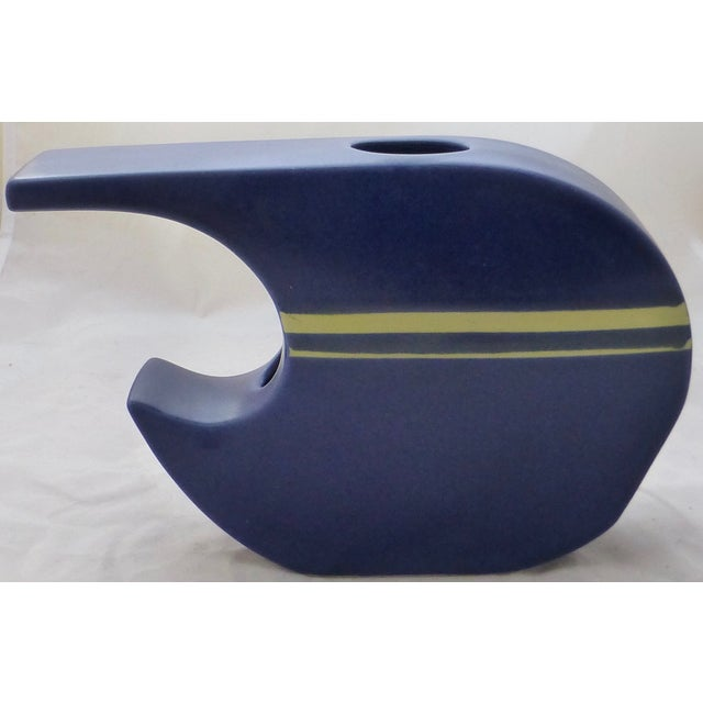 Mid-Century Linear Pottery Vase - Image 7 of 9