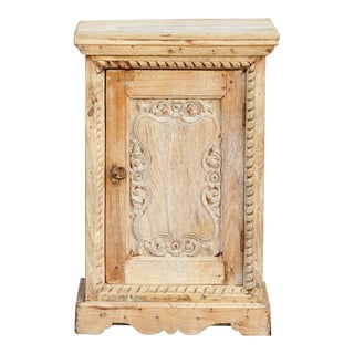 Indo-French Slim Tall Night Stand For Sale