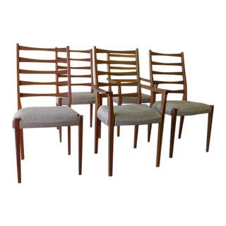 Mid Century Modern Teak Swedish Dining Chairs - Set of 5