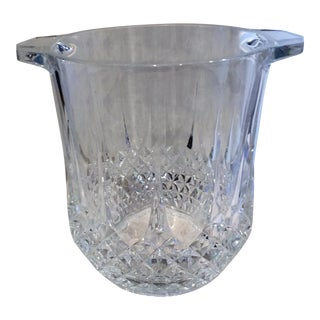 Longchamp Crystal Ice Bucket Wine Cooler Champagne For Sale