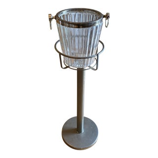 Art Deco Champagne Bucket and Stand** For Sale