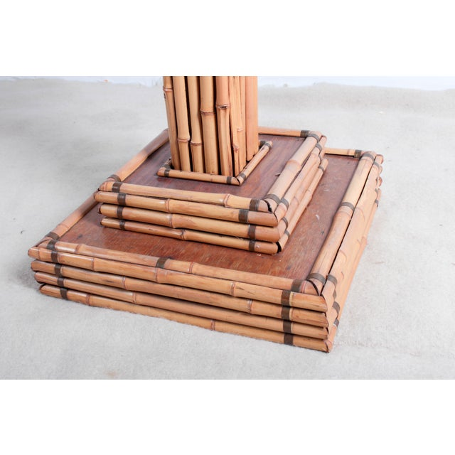 Bamboo Vintage Bamboo Pedestal Plant Stand For Sale - Image 7 of 8
