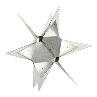 Mid-Century Modern Aluminium and Plexiglass Moravian Star Pendant Lamp, 1960s For Sale