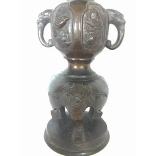 19th Cent. Meiji Period Japanese Heavy Bronze Pricket Candlestick Preview