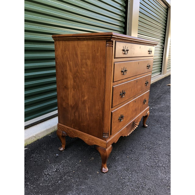 Kaplan Vintage Solid Maple Dresser Chest Chairish