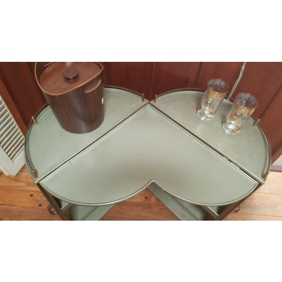 Vintage 50s Portable Round Bar Cart For Sale - Image 5 of 6