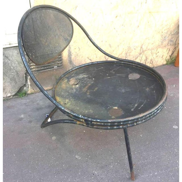 "1950s Mathieu Matégot, Pair of Chairs Model ""Copacabana"" in Genuine Vintage Condition For Sale - Image 5 of 6"