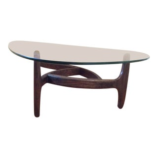 1960s Mid Century Modern Adrian Pearsall Sculptural Coffee Table For Sale