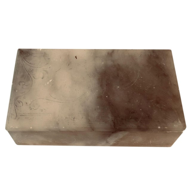 Italian 1930s Alabaster Box For Sale - Image 4 of 5