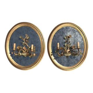 Oval Giltwood Mirrors - A Pair