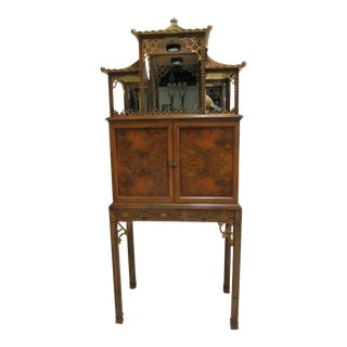 Chinese Maitland Smith Lighted Bar Pagoda Top For Sale