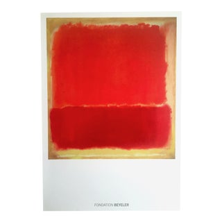 "Vintage Mark Rothko Abstract Expressionist Lithograph Print Poster "" No. 12 "" 1951"
